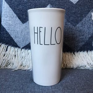 RAE DUNN * HELLO * Travel Tumbler with Lid